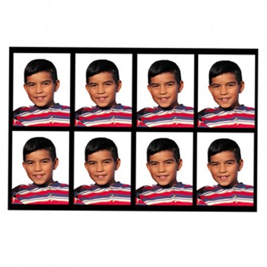 8 fotos de carnet 3x4 cm